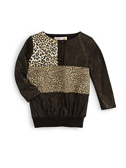 Sierra Julian - Toddler's & Little Girl's Lurex & Leopard Print Top