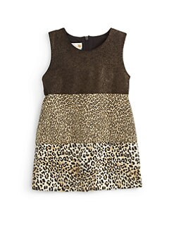 Sierra Julian - Toddler's & Little Girl's Lurex & Leopard Print Dress