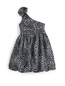 Sierra Julian - Toddler's & Little Girl's One-Shoulder Leopard Print Dress