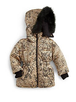 Sierra Julian - Toddler's & Little Girl's Snakeskin Print Parka