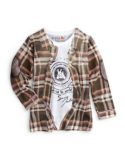 Sierra Julian - Toddler's & Little Boy's Flannel Print T-Shirt