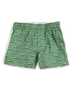 Vineyard Vines - Toddler's & Little Boy's Santa Boxer Shorts/Green