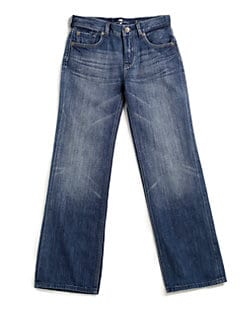 7 For All Mankind - Boy's A-Pocket Straight-Leg Jeans