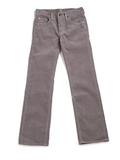 7 For All Mankind - Boy's Standard Straight-Leg Corduroy Jeans/Concrete