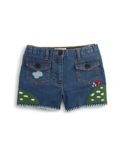 Stella McCartney Kids - Girl's Embroidered Hula Shorts