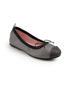 Venettini - Leather Cap Toe Ballerina Flats