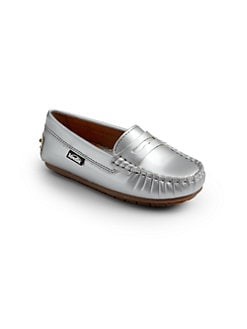Venettini - Metallic Patent Leather Loafers