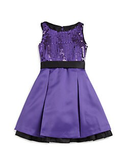 ABS - Girl's Olivia Sequin Pleated Dress