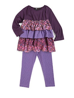 ABS - Toddler's Jessica Tiered Floral Two-Piece Set