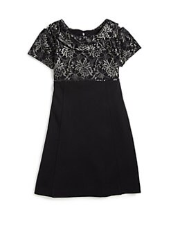 ABS - Girl's Jacquard Reverse Collar Dress