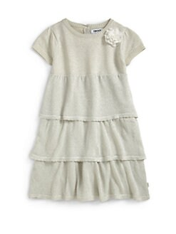 DKNY - Little Girl's Metallic Tiered Dress