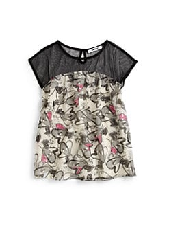 DKNY - Girl's Heart Print Top