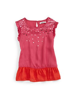DKNY - Girl's Colorblock Brilliance Top