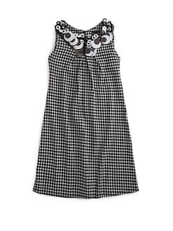 Laundry by Shelli Segal - Girl's Houndstooth Embellished Neck Dress