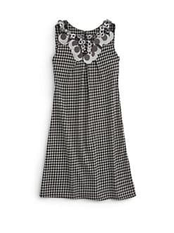Laundry by Shelli Segal - Little Girl's Cassie Houndstooth Pailette Dress