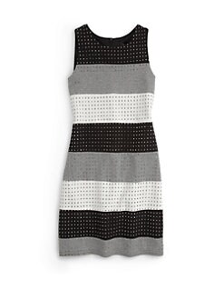 Laundry by Shelli Segal - Little Girl's Jackie Embellished Colorblock Dress