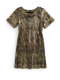 Laundry by Shelli Segal - Little Girl's Tabitha Metallic Spot Dress