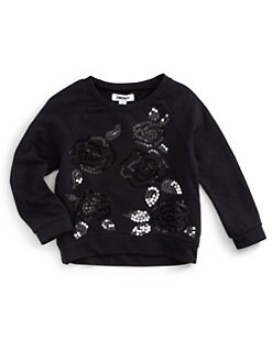 DKNY - Toddler's Floral Sequin Sweater