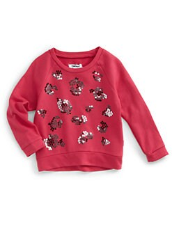 DKNY - Toddler's & Little Girl's Wildcat Power Sequin Sweater