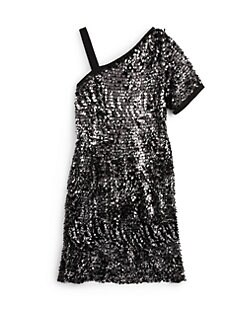 Laundry by Shelli Segal - Girl's Serena Asymmetric Sequin Dress
