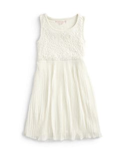 Design History - Girl's Lace Pleated Dress
