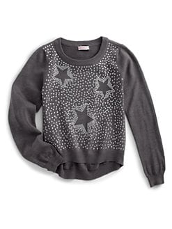 Design History - Girl's Studded Star Sweater