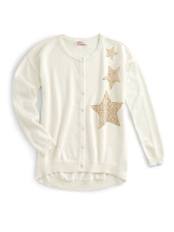 Design History - Girl's Studded Star Cardigan