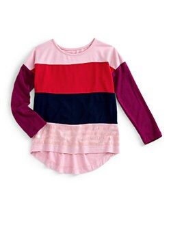 Design History - Toddler's & Little Girl's Colorblock Top