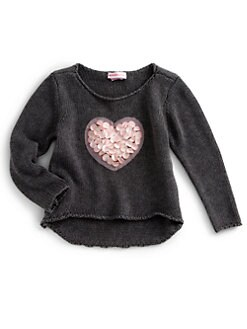 Design History - Toddler's & Little Girl's Heart Sweater