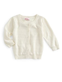 Design History - Toddler's & Little Girl's Lace Detail Cardigan
