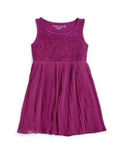 Design History - Toddler's & Little Girl's Lace Pleated Dress