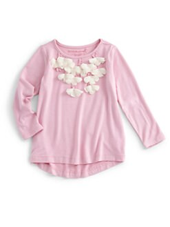 Design History - Toddler's & Little Girl's Floral Applique Top