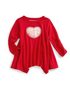 Design History - Toddler's & Little Girl's Heart Top