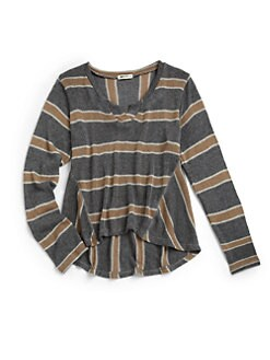 LAmade Kids - Girl's Sadie Striped Hi-Lo Sweater