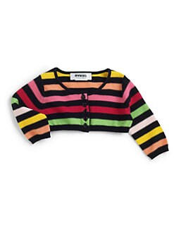 Sonia Rykiel Enfant - Girl's Striped Cropped Cardigan