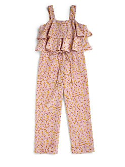 Sonia Rykiel Enfant - Girl's Floral Overalls