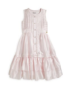 Roberto  Cavalli Angels - Girl's Cotton/Silk Pintucked Dress