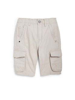 7 For All Mankind - Boy's Cotton Canvas Cargo Shorts