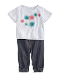 7 For All Mankind - Infant's Two-Piece Tee & Jeans Set