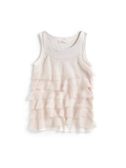 7 For All Mankind - Girl's Tiered Ruffle Tank Top