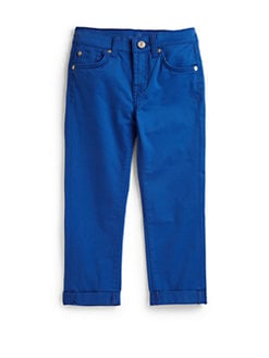 7 For All Mankind - Little Girl's Skinny Crop & Roll Pants/Blue