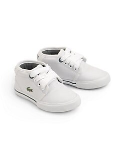 Lacoste - Kid's Ampthill Lace-Up Sneakers/White