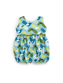 Isabel Garreton - Infant's Cotton Peacock Print Bodysuit