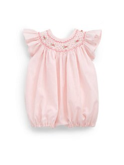 Isabel Garreton - Infant's Cotton Flutter-Sleeve Striped Bodysuit