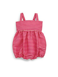 Isabel Garreton - Infant's Cotton Bow-Back Striped Bodysuit