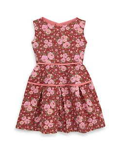 Isabel Garreton - Toddler's Cotton Floral Print Pleated Dress