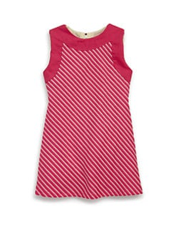Isabel Garreton - Toddler's Cotton Angled Dash Stripe Dress