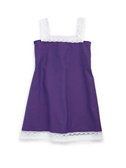 Isabel Garreton - Toddler's & Little Girl's Cotton Crochet Trim Dress