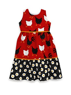Isabel Garreton - Toddler's Cotton Farm Print Ruffle Dress