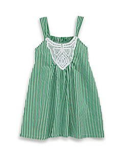 Isabel Garreton - Toddler's & Little Girl's Cotton Crochet Bib Striped Dress